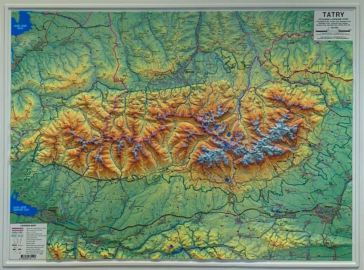 Tatry Mapa Plastyczna 3d 1 66 666 98x73 Cm