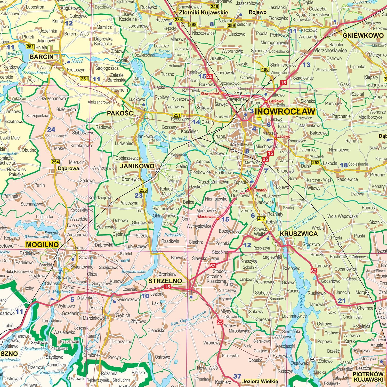 Mapa Scienna Woj Kujawsko Pomorskiego 1 200 000