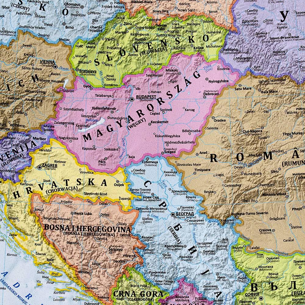 Europa Mapa Polityczna Tapeta Xxl 276x200 Cm