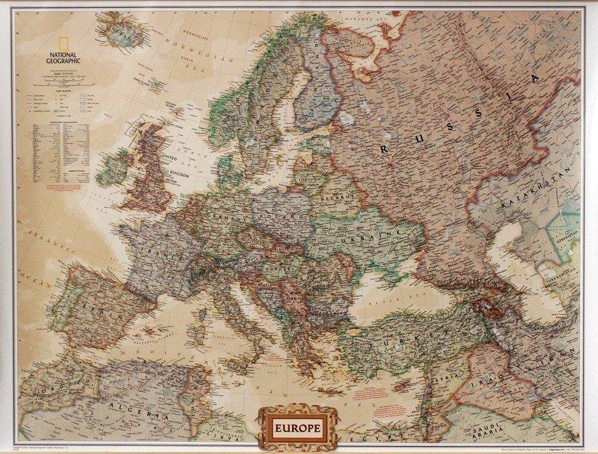 Mapa Scienna Europy National Geographic Executive
