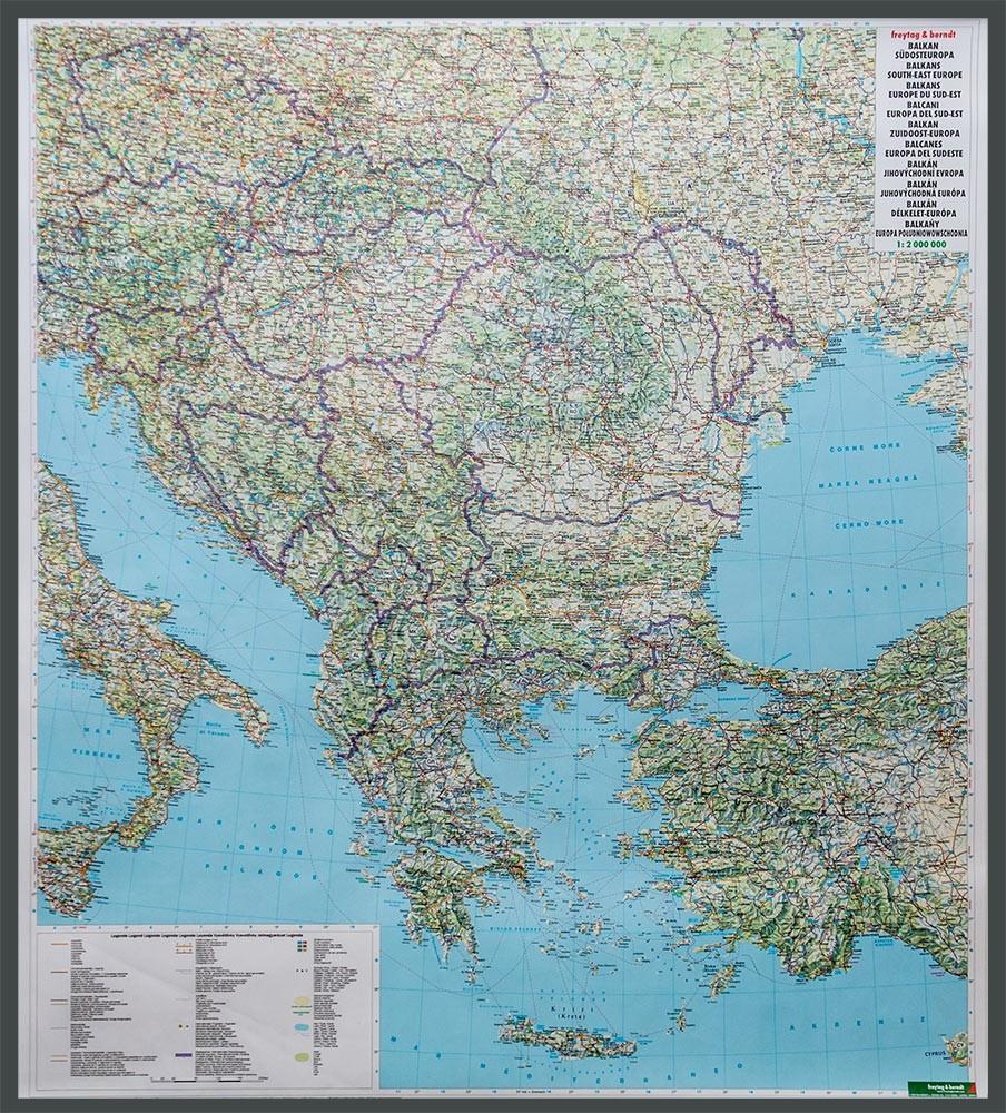 Balkany Europa Poludniowa Mapa Scienna Samochodowa 1 2 000 000