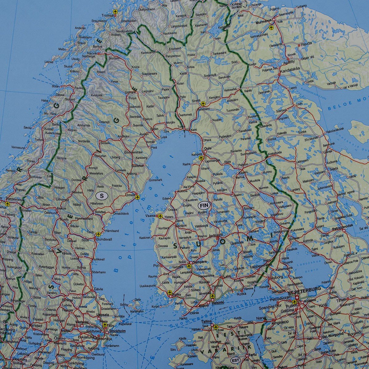 Europa Mapa Scienna Koleje Promy 1 5 500 000 136x91 Cm