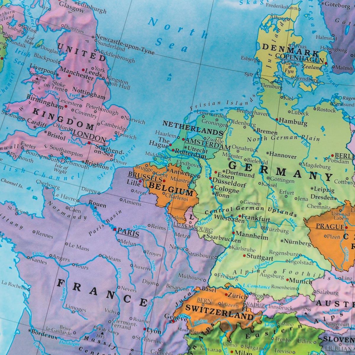 Europa Mapa Scienna Polityczna 1 6 000 000 100x66 Cm