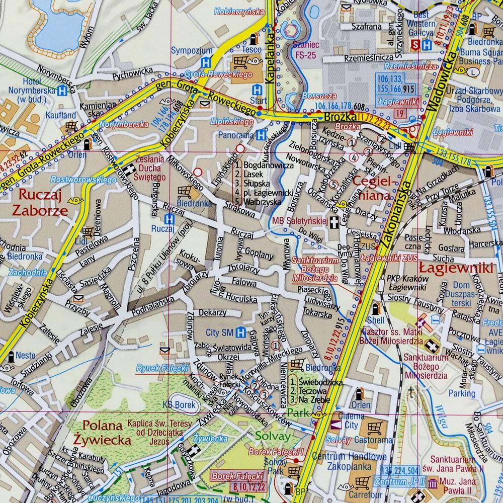 Krakow Mapa 1 26 000 985x68 Cm