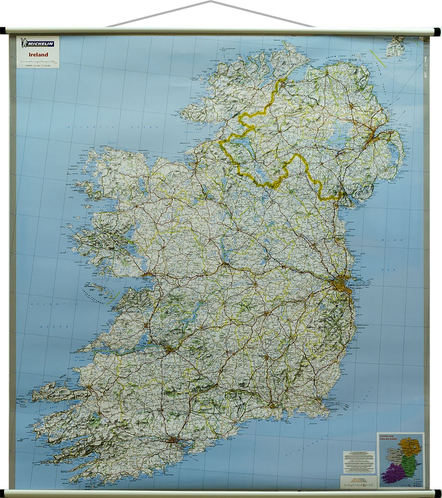Irlandia Mapa Scienna Drgowa 1 400 000 Michelin