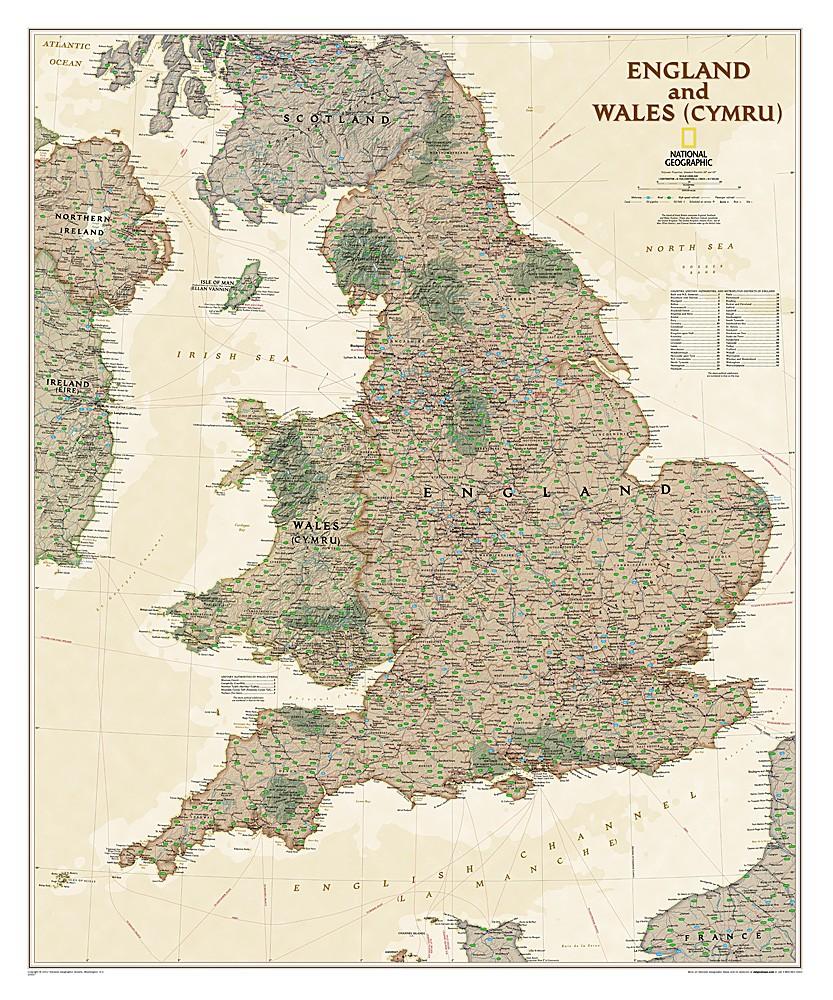 Anglia I Walia Executive Mapa Polityczna 1 868 420 77x92 Cm