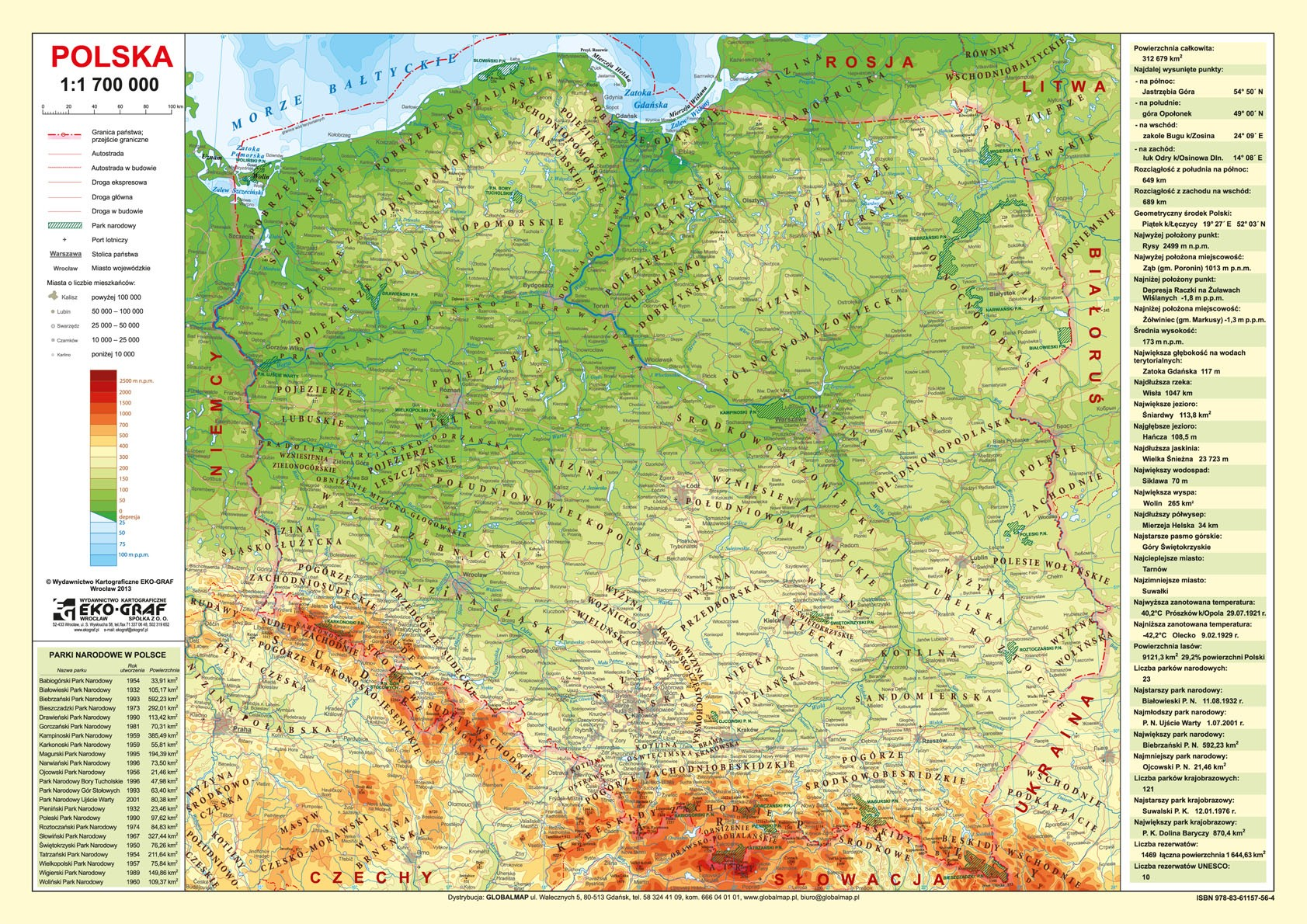 Polska Mapa Podkładka Na Biurko
