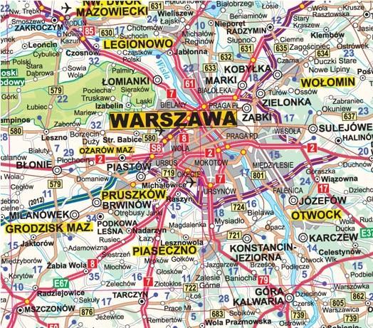 Mapa Scienna Drogowa Polski