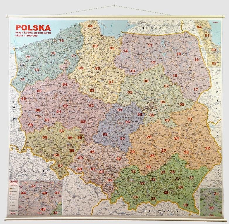 Mapa ścienna Kodowo Drogowa Polski 1500 000 M4